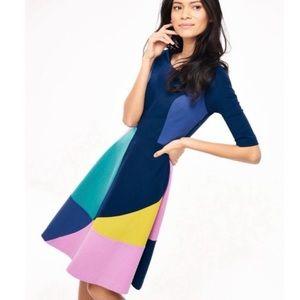 Boden Alice Ponte Colorblock Dress US Size 12R